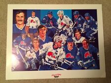 Nordiques Joe Sakic Guy Lafleur Mats Sundin Stastny Maxwell House Coffee Poster