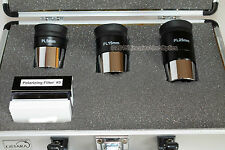 "Ostara 1.25"" plossl eyepiece + filter set with aluminium case. For telescopes"