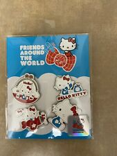"""2019 Hello Kitty 45th Limited Edition """"Friends Around The World Tour"""" 4 Pin Set"""