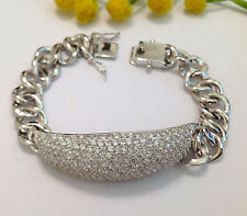 925 STERLING SILVER  FINE BRACELET WITH 400  ZIRCONIA BRILLANT CUT