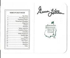 Gene Littler Autographed Scorecard -  JSA Sticker of Authenticity