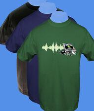 Männer Herren T-Shirt Sound Turntable Musik move2be L XL grün navy blau schwarz