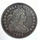 1795 DRAPED BUST SILVER DOLLAR EXTREMELY FINE RARE THIS NICE!! SILVER GREY TONED