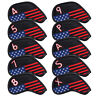 Craftsman USA Flag Iron Golf Head Club Covers Cover Set 10pcs For Callaway Ping