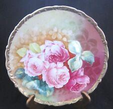 K. Steinmann American Beauty Cabinet Plate  - Germany - 9.5 in. - 1900-1932