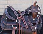 Western Horse Leather Saddle Used Endurance Trail Gaited Tack Set 16 17