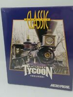 Railroad Tycoon Deluxe MicroProse Classic Series Big Box DOS CD-ROM New Sealed