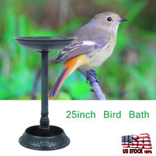"""25"""" Birdbath Height Pedestal Bird Bath Antique Outdoor Garden Decor Vintage"""