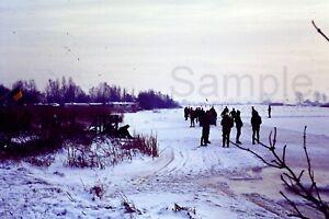 1970s Ice Skating Snow Winter Scenery Netherlands 35mm Slide Vintage D661