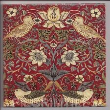William Morris Strawberry Thief Ceramic or Porcelain Tiles Fireplace Kitchen red