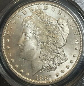 1881-CC Morgan Dollar PCGS MS63 CAC. Frosty And Fresh.  PQ