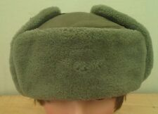 Vintage Army DDR  Green Cossack / Ushanka Trapper Hat with ear flaps  Size 56cm