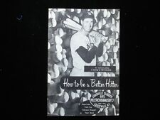 1957 'How to be a Better Hitter' by Ted Williams & Louisville Slugger