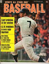 1965 Sports All Stars Magazine, Baseball, Mickey Mantle, New York Yankees ~ Fair