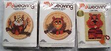 Vintage Jiffy Weaving Kits Owls Tiger Lot of 3 NEW Original Packaging
