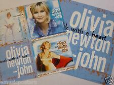 "Olivia Newton-John ""Back With A Heart"" 2-Sided U.S. Promo Poster / Flats- Pop"