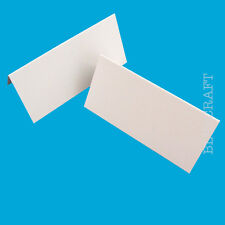 125 x White Place Name Cards Blank Posh Weddings & Parties