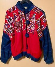 1980s Vintage Embroidery Guatemalan Denim Coat Big Buttons Artsy Ixmucane
