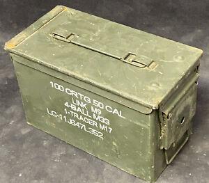 Military 50 Cal. Empty Metal Ammo Box