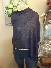 Sparkly Navy Blue with Silver Thread Pasmina/Scarf NWOT
