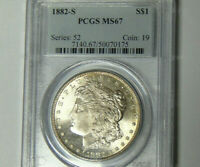 PCGS MS67 1882-S Morgan Silver Dollar San Francisco Mint