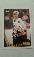 1987-88 Topps Ray Bourque Card 87 Boston Bruins All Time Great  Nice Card