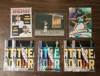Ramon Laureano Lot- 2019 Stadium Club RC 2020 Topps Chrome Refractor Oakland A's