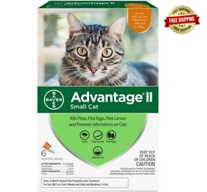 Advantage II Flea Control for Small Cats 5-9 lbs, 6 Packs - FREE 2 DAY SHIP