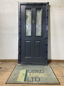 DOORSTOP-COMPOSITE-FRONT-BACK-ENTRANCE DOOR-ANTHRACITE GREY 7016-TRIPLE GLAZED