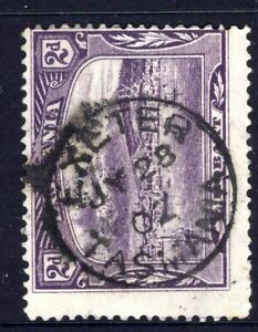 Tasmania nice 1902? EXETER pmk (type 1) on 2d pictorial rated S+ (6)