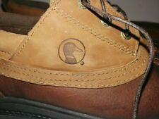 DUCK HEAD 2-TONE BROWN LEATHER  LACE UP SHOES SZ 9.5