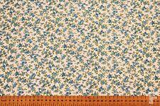Türkis & grün Blumen - bedruckt Polybaumwolle Stoff