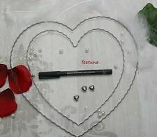 1 Draht - Herz Herzen Hochzeit Rohling für Girlande und Blüten Autoschmuck Liebe