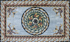 Roman Stone Art Floor Patio Home Decor Marble Mosaic GEO2009