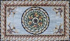 Roman Stone Art Floor Patio Home Decor Marble Mosaic GEO2009