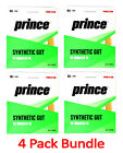 4 Pack Bundle of PRINCE Synthetic Gut 16 with Duraflex GOLD - Authorized Dealer