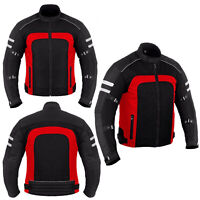 Men's Motorcycle Racing Summer Jacket Mesh Fabric Bikers Touring Jacket CE Armor