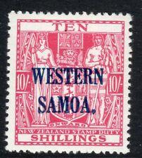 Samoa 1935 Western Samoa carmine-lake 10/- mint SG191