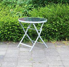 Aluminium Glastisch Gartentisch Gartenklapptisch Klapptisch Tisch Garten B-WARE