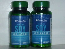 SOY ISOFLAVONES NON-GMO MENOPAUSE HOT FLASHES NIGHT SWEATS 120 CAPSULES 2 BOTTLE