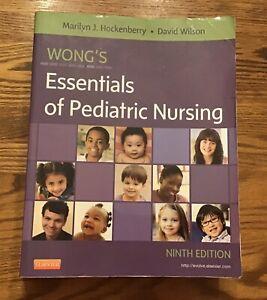 Wong's Essentials of Pediatric Nursing ~ 9th ed ~ clean wongs ISBN 9780323083430