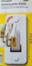 Schellenberg 53503 Abdeckplatte Softline Lochabstand 10.5 Cm weiß