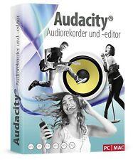 Audacity - Musik bearbeiten,schneiden,aufnehmen inkl. Handbuch - PC-DVD-ROM