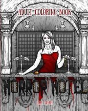 Horror Hotel Halloween Adult Colouring Book Creepy Gothic Fantasy Demon Scary