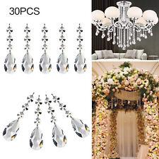 30X Acrylic Crystal Rhinestone Bead Garland Drop Shape Chandelier Wedding Decor