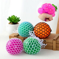 Lovely Anti Stress Face Reliever Grape Ball Autism Mood Squeeze Relief ADHD Toy