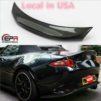 For Mazda MX5 Miata ND RF Carbon Fiber LMS Style Rear Trunk Duckbill Spoiler Lip