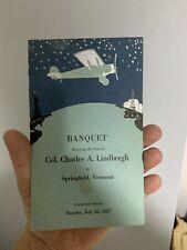 Charles Lindbergh Banquet