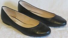 Jones Bootmakers Black Leather Ballet Flat Shoes Size 5