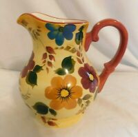 D Oneida Kitchen Hand Painted Sunset Bouquet Water Pitcher 48oz  Vibrant Bold